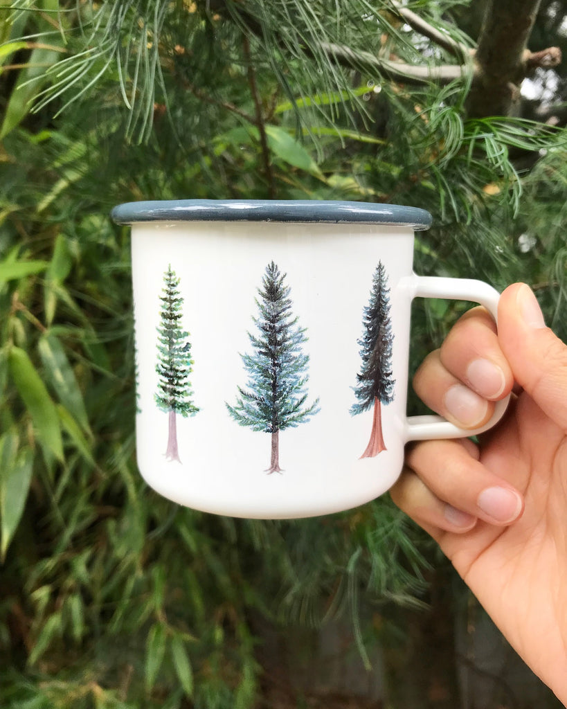 Evergreen camp mugs for all your cozy fall beverages