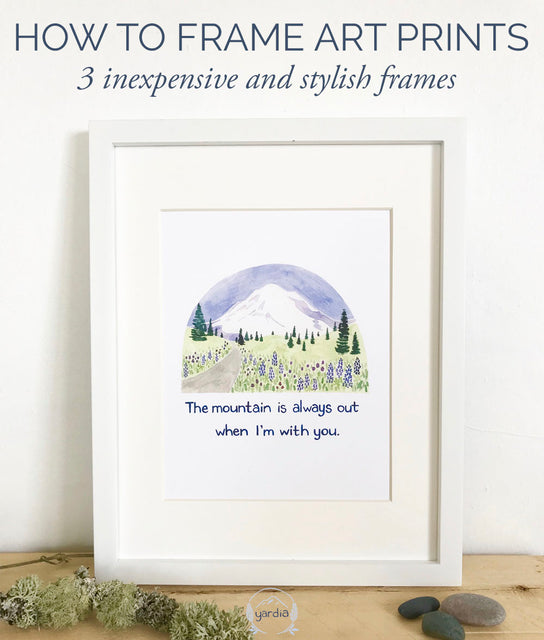 3 inexpensive and stylish frames to display art prints