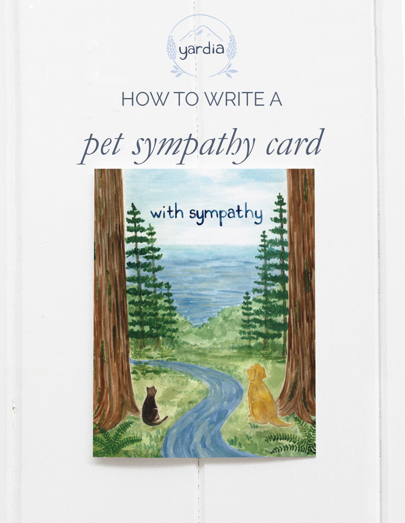 How to write a pet loss sympathy card