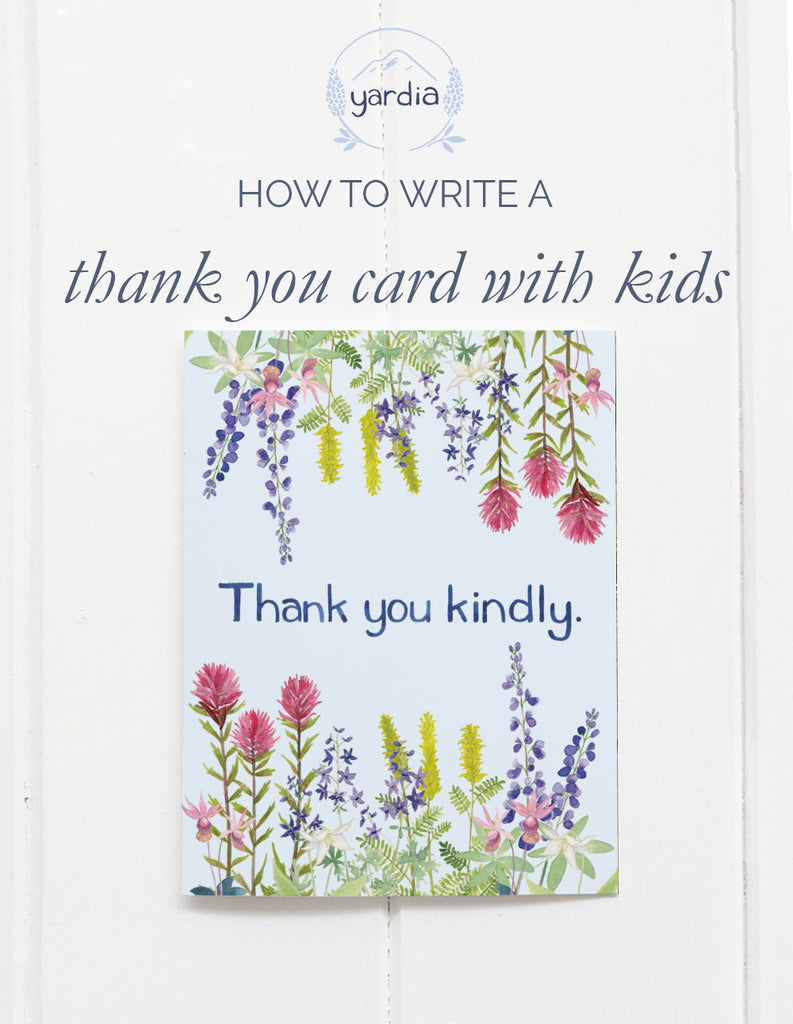 How to write a thank you card with kids