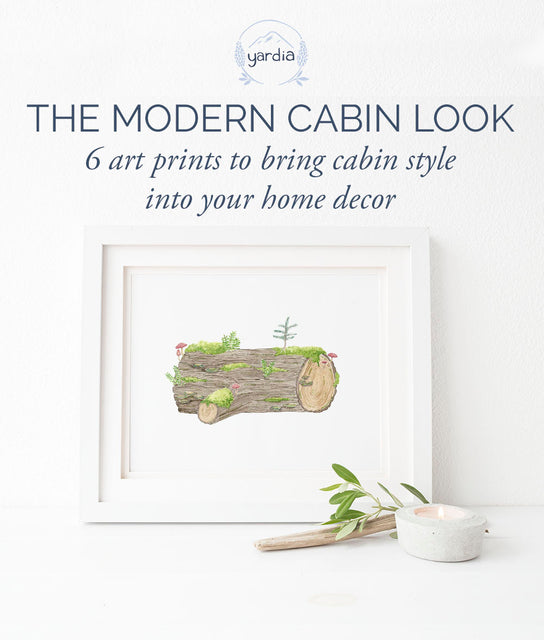 6 art prints to bring modern cabin decor into your home