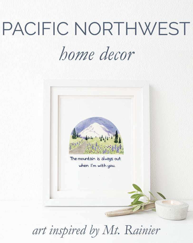 Pacific Northwest home decor: Mount Rainier inspired art to bring the outdoors in