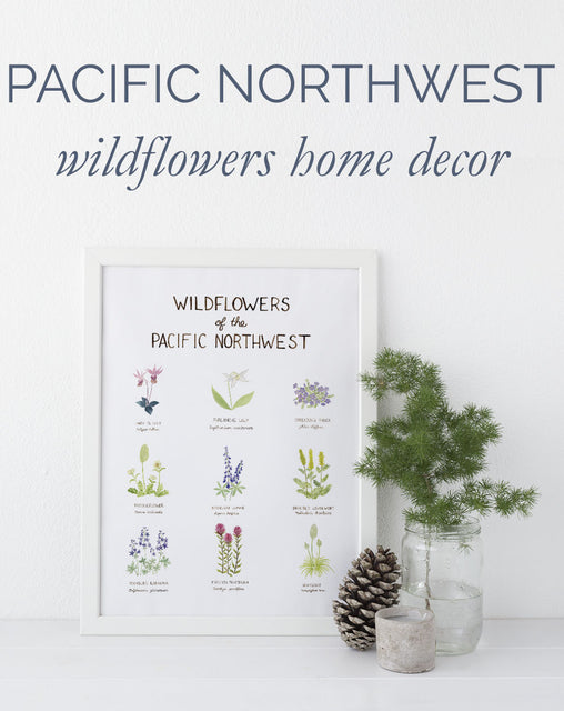 Pacific Northwest home decor: wildflower art to celebrate summer