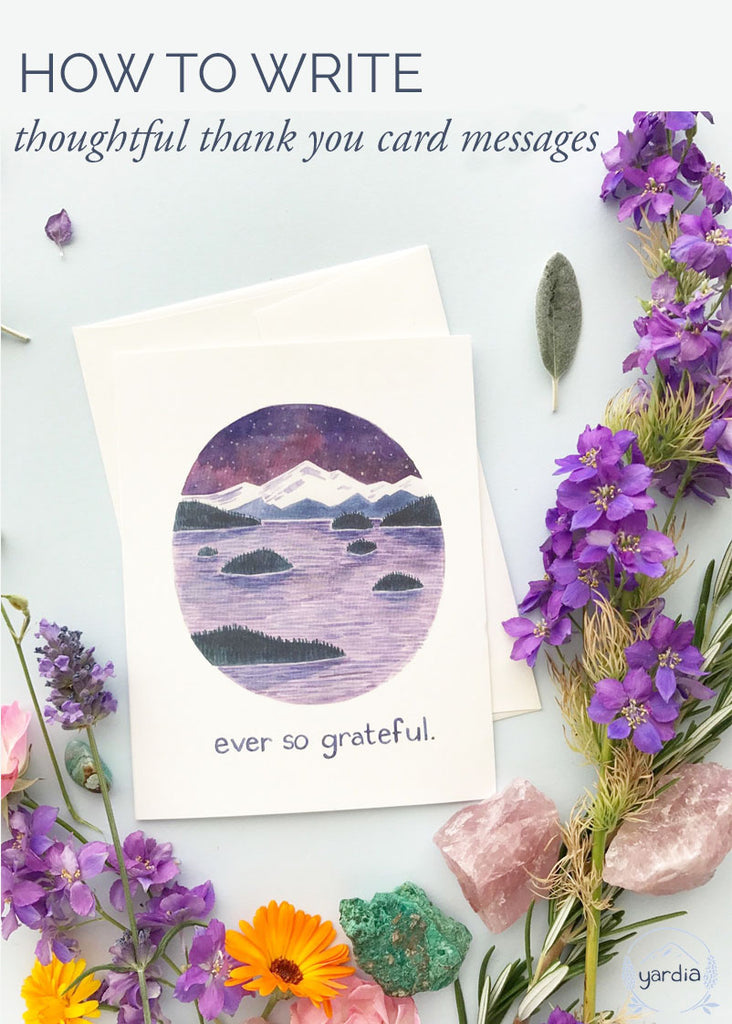 Thoughtful thank you card messages