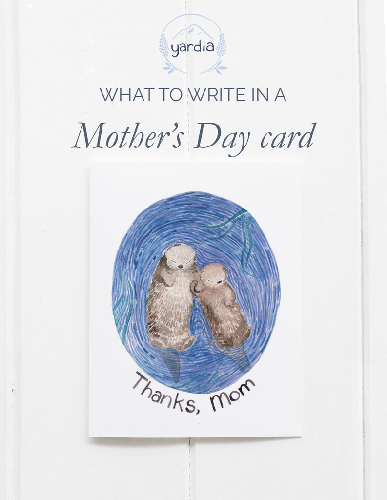 What to write in a Mother's Day card