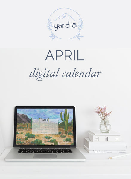 Yardia April digital calendar