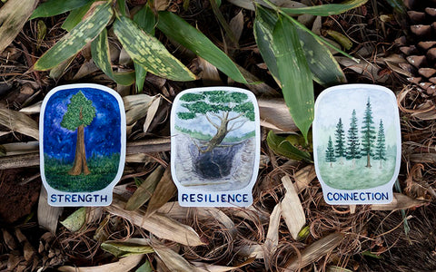 trees of life sticker set