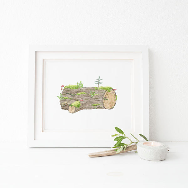 Nurse Log art print