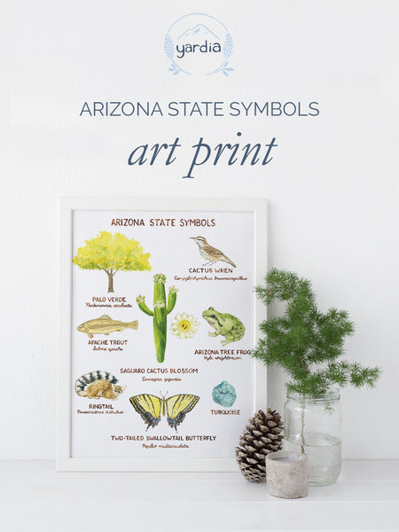 arizona state symbols art print