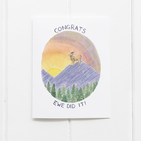 congrats ewe did it card