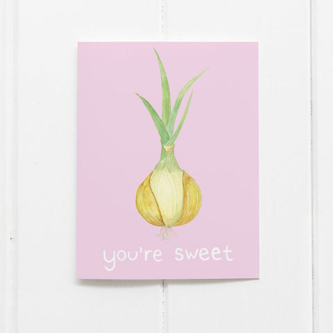 you're sweet onion card