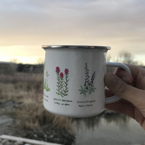 wildflower camp mug by Yardia