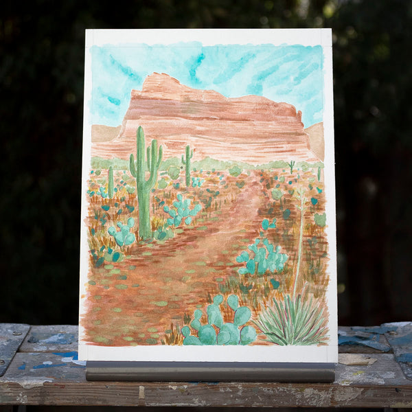 Sedona Desert Original Watercolor Painting