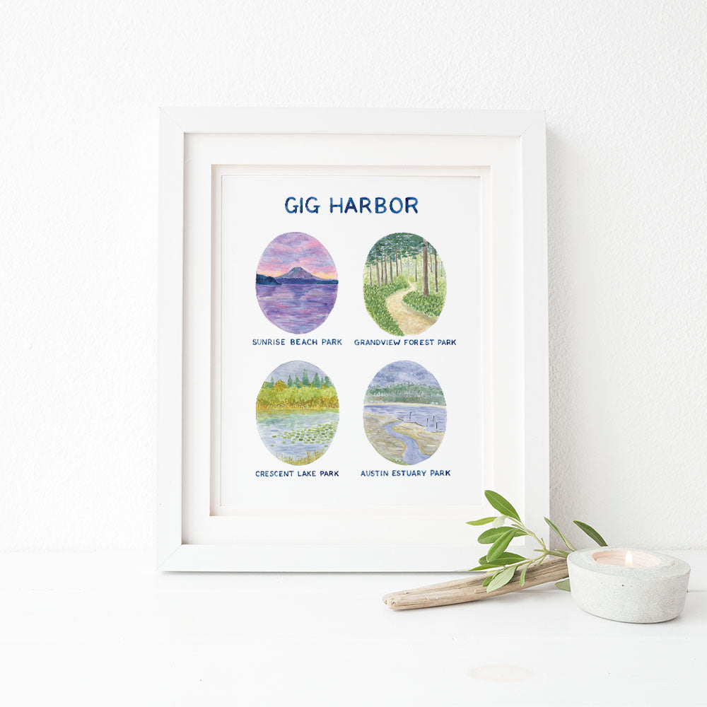 Gig Harbor Watercolor Art Print