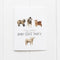 Baby goat party birthday card by Yardia
