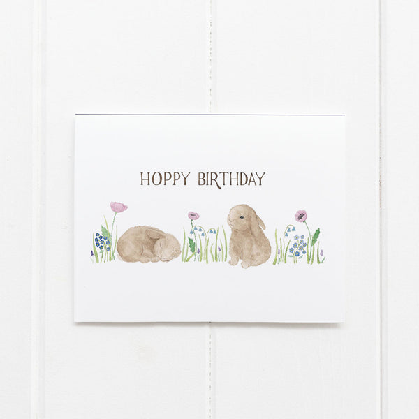 Bunny birthday card by Yardia