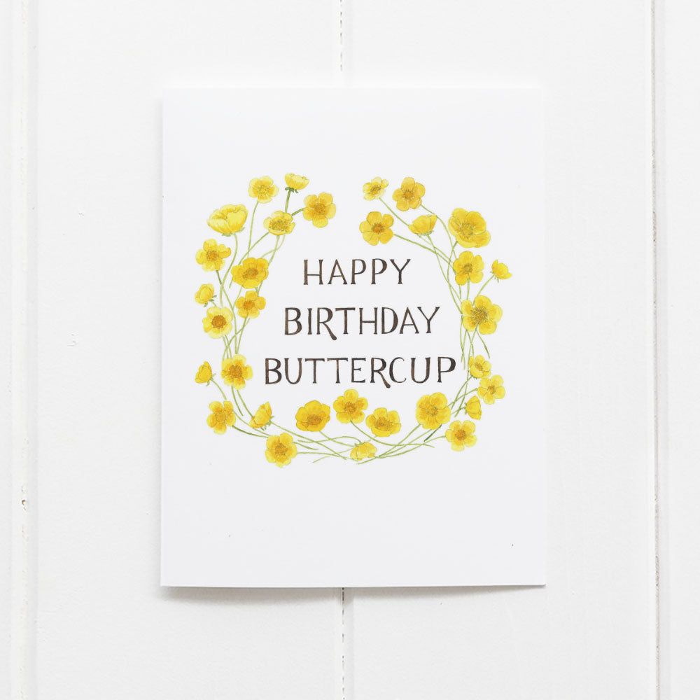 Buttercup birthday card by Yardia
