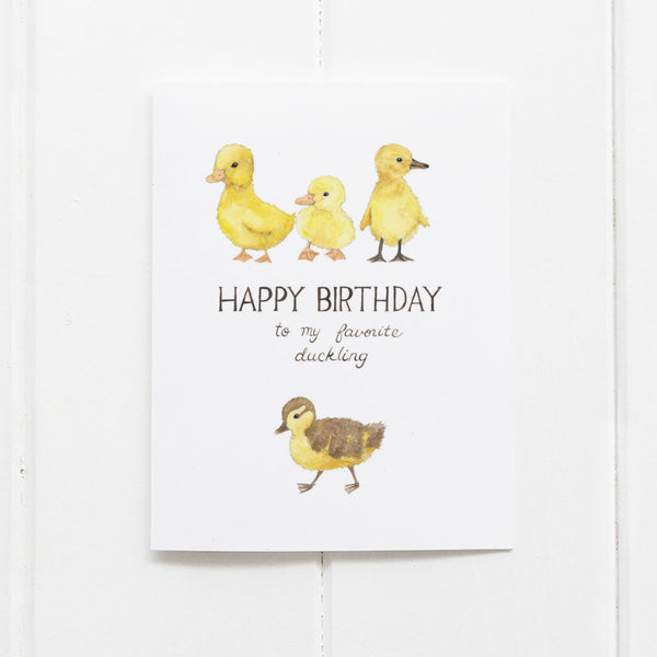 Ducklings Birthday Card