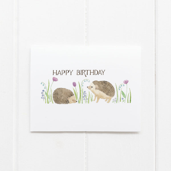 Hedgehog birthday card by Yardia