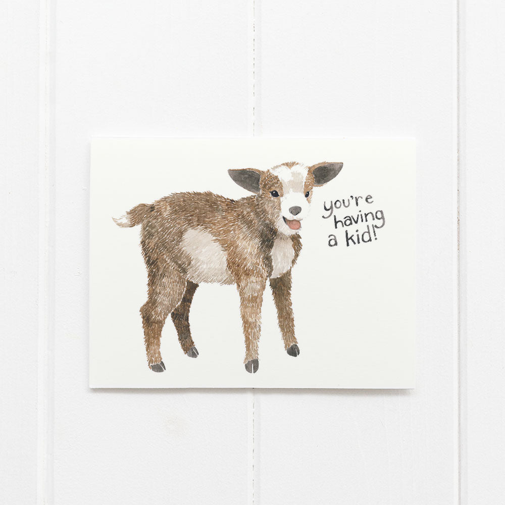 Goat baby card by Yardia