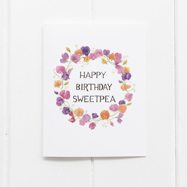 Sweetpea Birthday Card