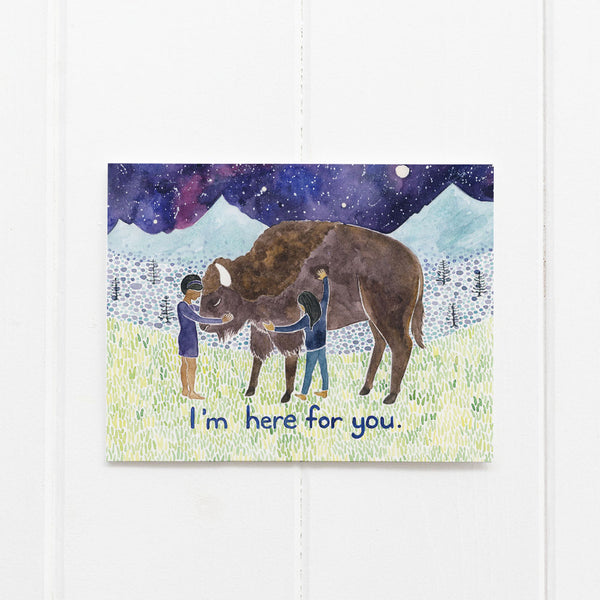 Buffalo sympathy card by Yardia