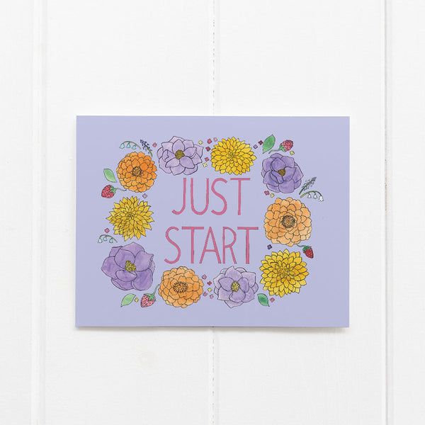 Just Start card by Yardia