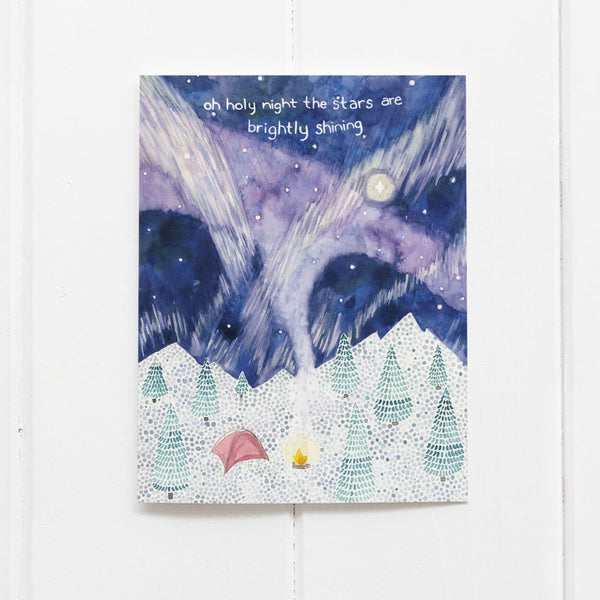 Camping Christmas card by Yardia