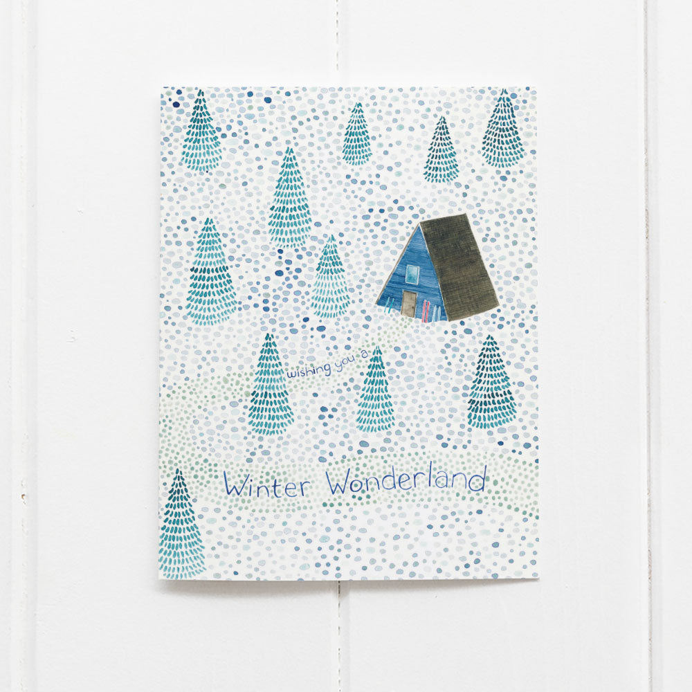 Winter wonderland holiday card by Yardia