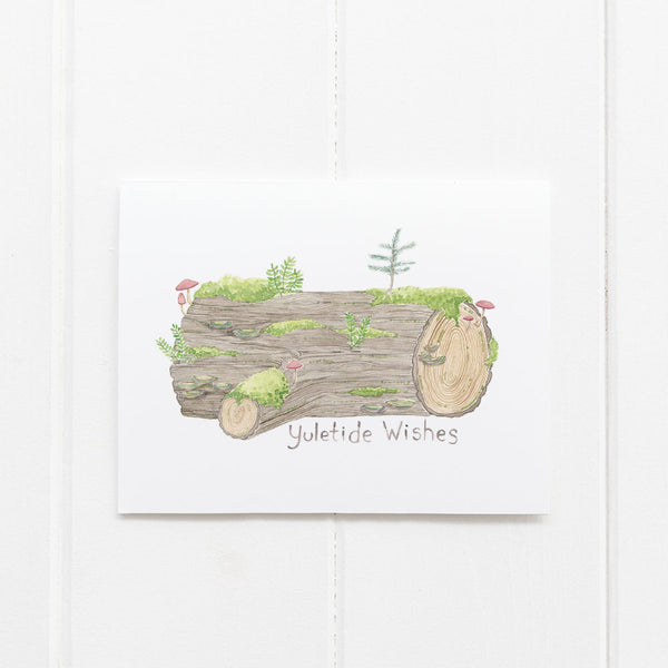 Yule Log holiday card by Yardia