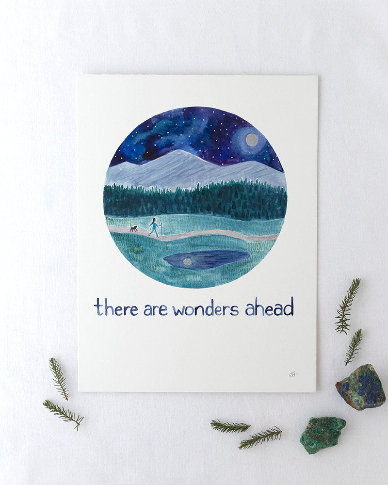 There Are Wonders Ahead Original Watercolor Painting