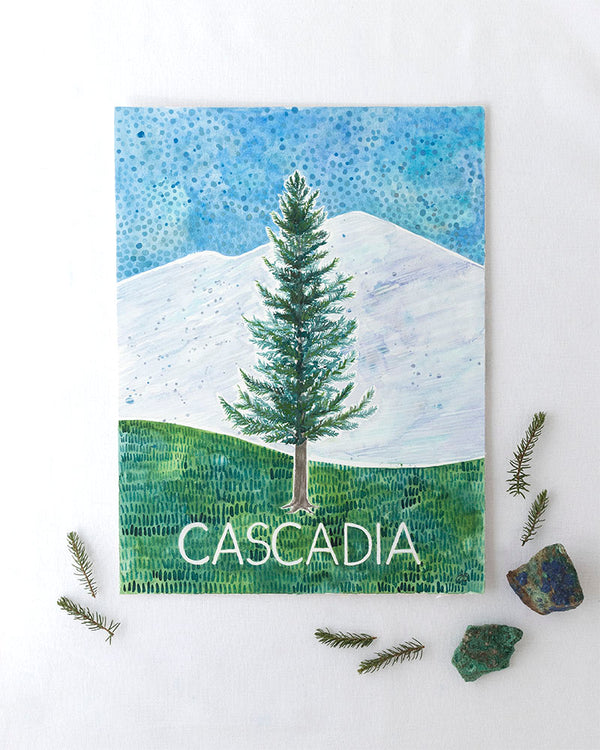 Cascadia Original Watercolor Painting