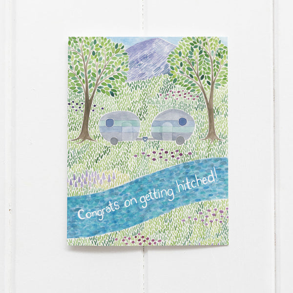 Camper wedding card by Yardia