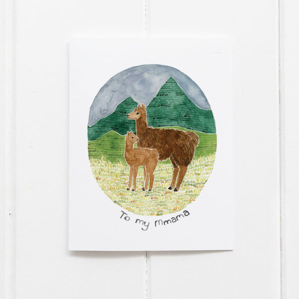 Llama mom card by Yardia