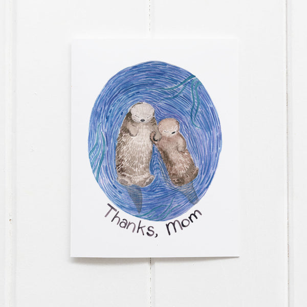 Thanks Mom Otters card by Yardia