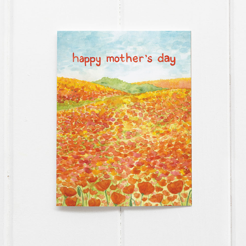 Happy Mother's Day Card with poppies