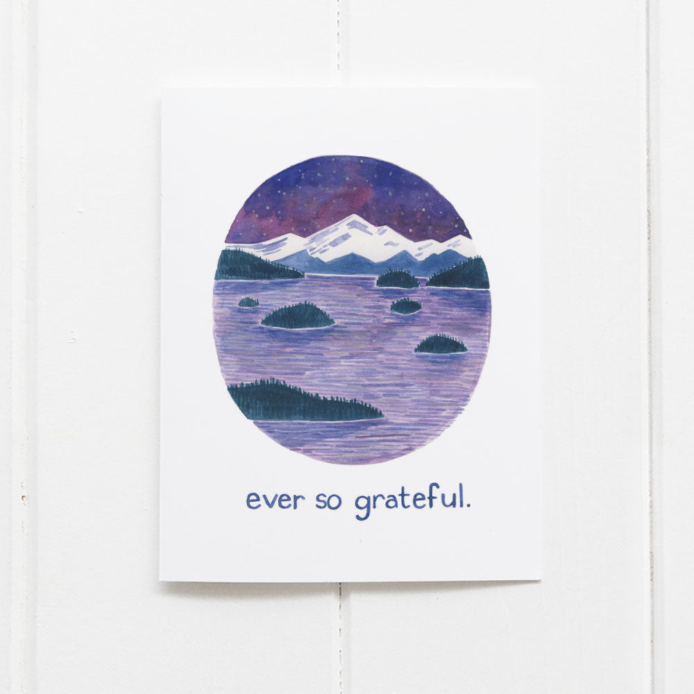 Ever so grateful thank you card by Yardia