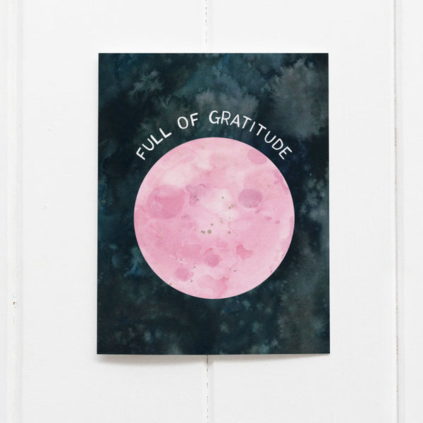 Full moon thank you card