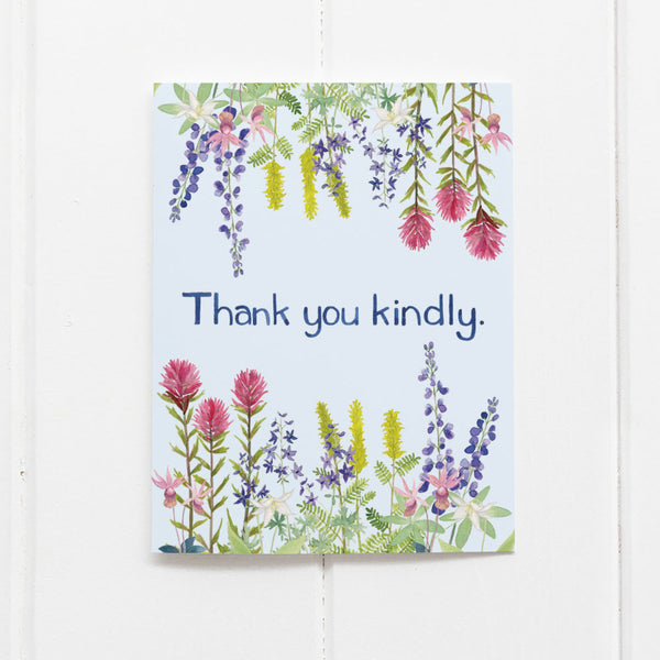 Wildflowers thank you card by Yardia