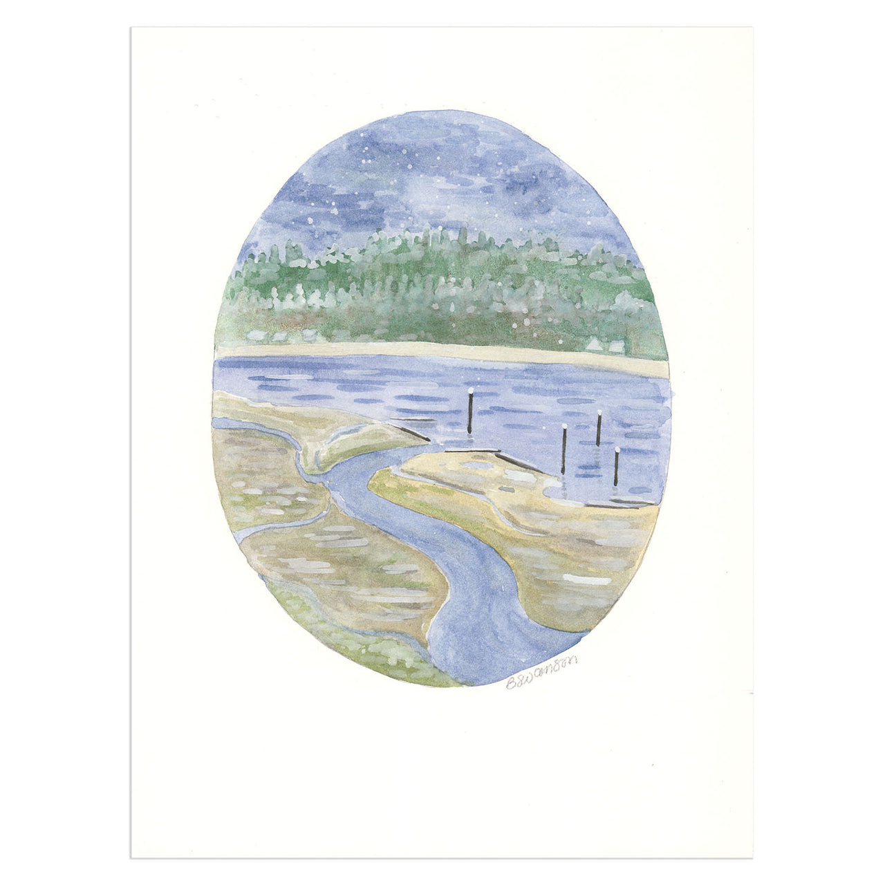 Gig Harbor Original Watercolor Painting