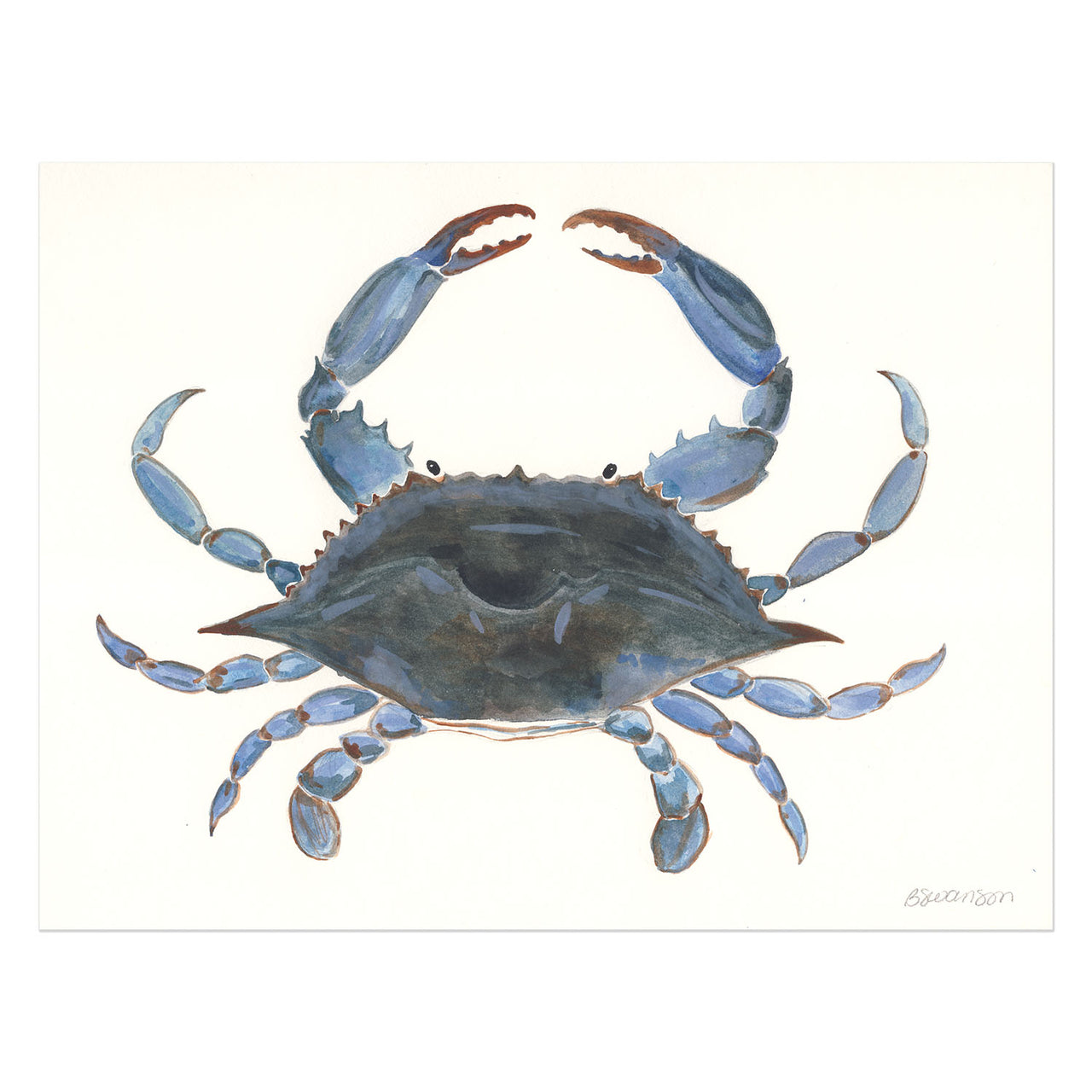 Blue Crab Original Watercolor Painting