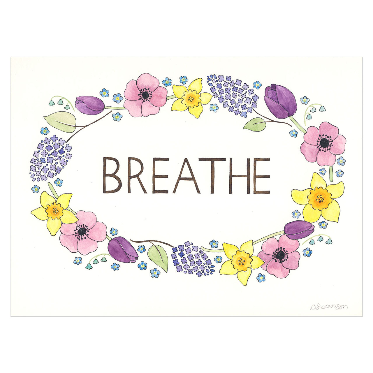 Breathe Original Watercolor Painting