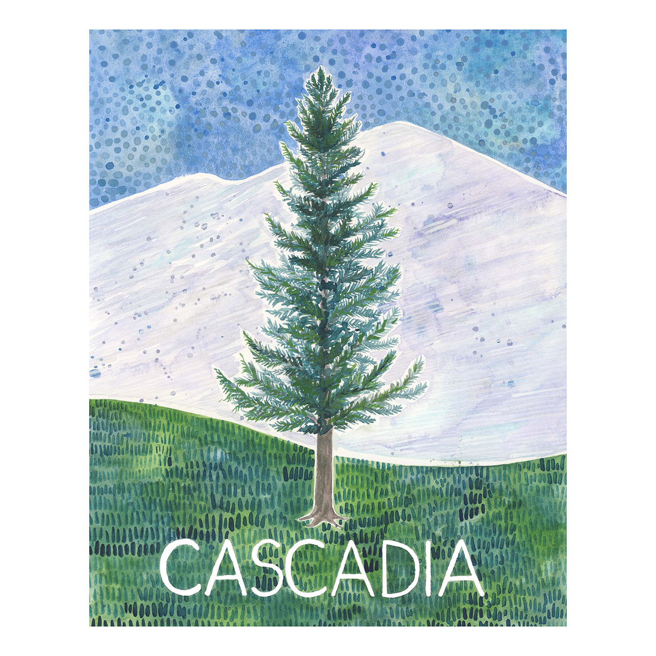 Cascadia original watercolor painting by Yardia