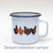 SECONDS SALE: Imperfect Chickens Enamel Mug