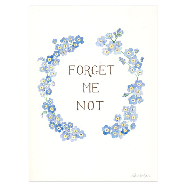 Forget Me Not Original Watercolor Painting