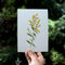 Goldenrod Wildflower Original Watercolor Painting