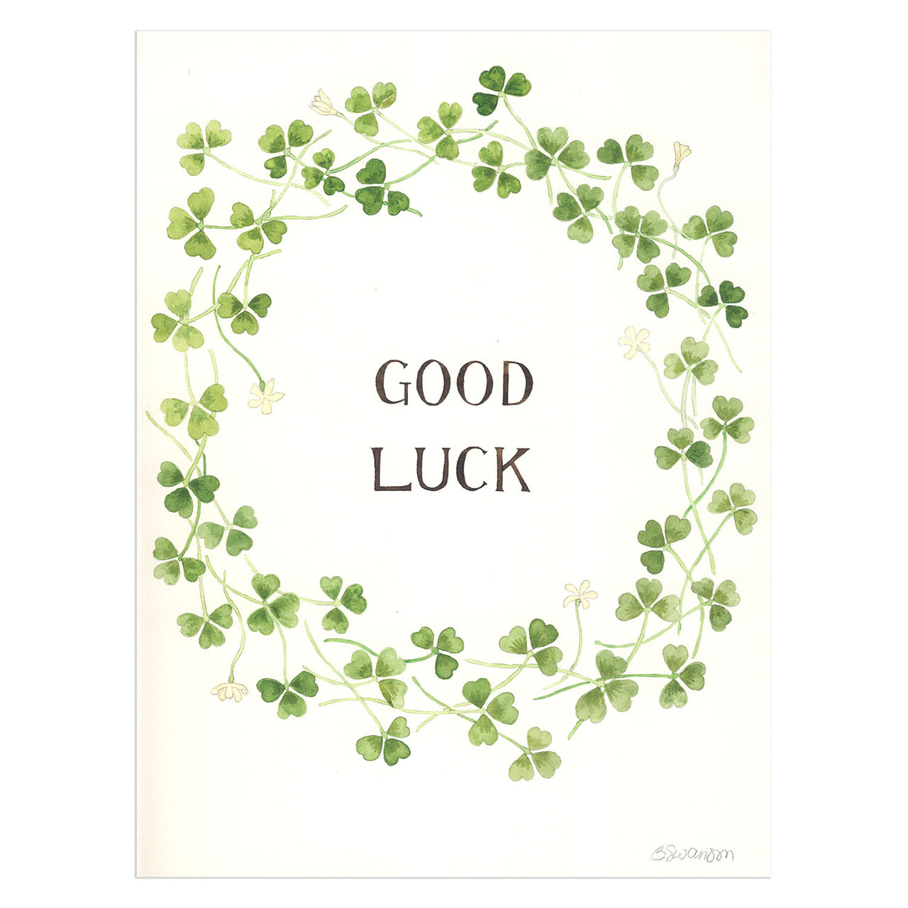 Good Luck Original Watercolor Painting