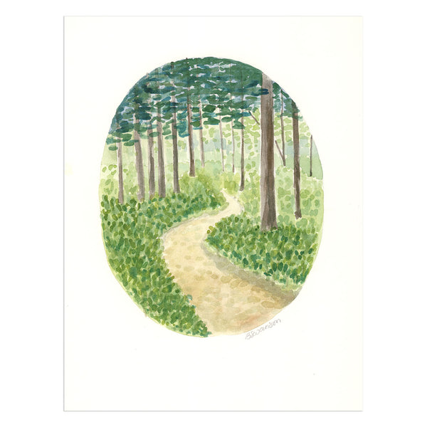 Grandview Forest in Gig Harbor Original Watercolor Painting