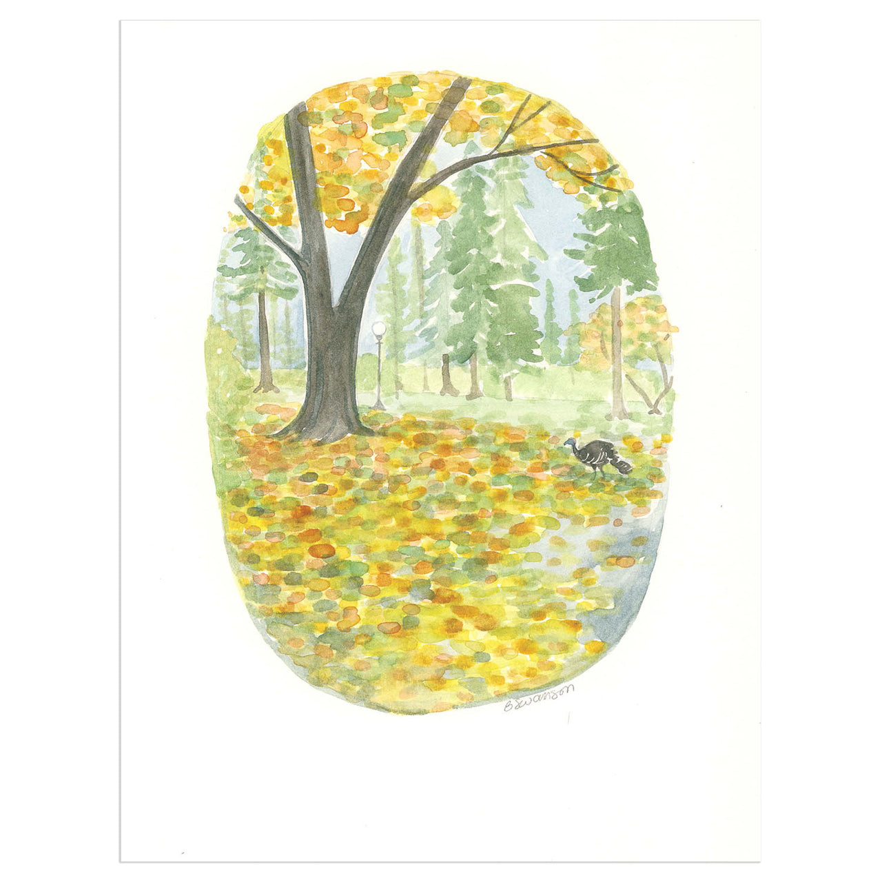 Hiawatha Park with the West Seattle Turkey Original Watercolor Painting