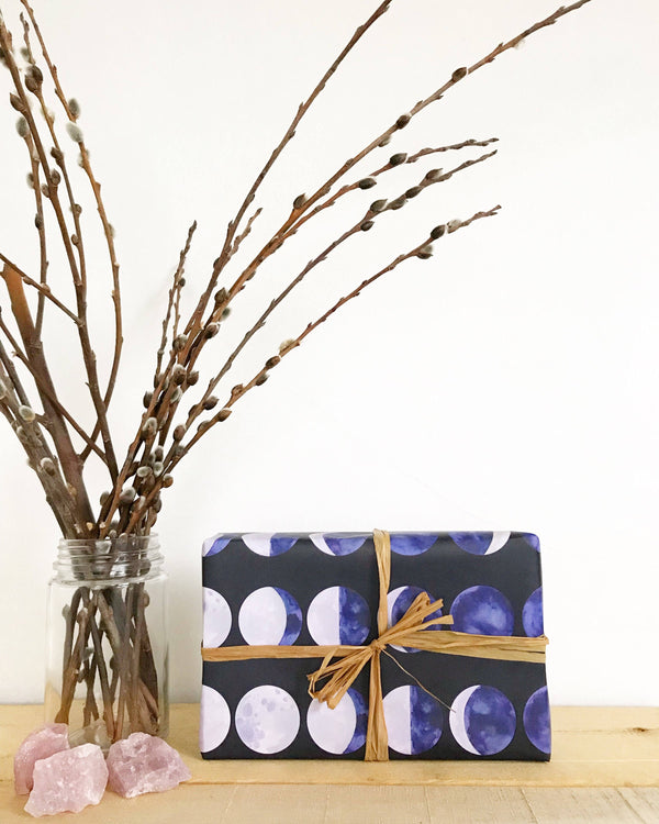 Moon Phases Wrapping Paper